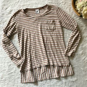 Cabi #3055 Striped Long Sleeve Top